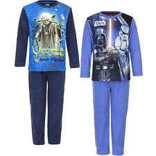 Neu Pyjama Set Schlafanzug Jungen Star Wars Fleece Blau Gr. 98 104 116 128 #114