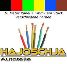 10 metros cable de vehículo 2,5mm ² litze FLRY 2,5 ² COCHE MOTO