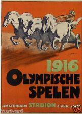OLYMPICS Amsterdam 1916 Window Poster / Handbill / Flyer - reprint