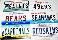 "NFL Team State Metal License Plates 12"" x 6"" ""Read Description"""