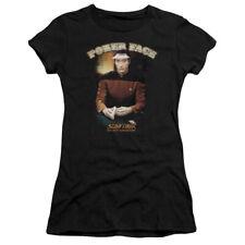 Star Trek Poker Face Juniors Short Sleeve Shirt