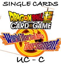 Dragon Ball Super Card Game - SIngles - World Martial Arts Tournament - C,UC