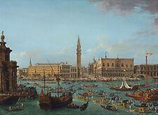 """Antonio Joli : """"Gondolas in the Bacino di San Marco, Venice"""" — Fine Art Print"""