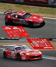 Calcas Ferrari 550 GTS Le Mans 2005 50 51 1:32 1:24 1:43 1:18 slot decals