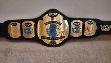 WCW World Heavyweight Wrestling Championship Belt Replica Leather Plated Belt