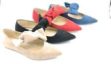 Latika 5065 ballerina a punta con fiocco camoscio rosso/beige/nero/turchese