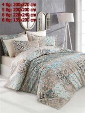 Bettwäsche Bettgarnitur Bettbezug 100% Baumwolle Kissen Decke PASTEL BRAUN