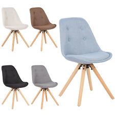 Eiffel Design Dining Office Lounge Chair Fabric Solid Wood Legs Padded Seat u144