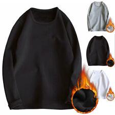Men's Winter Thermal Long Sleeve T-Shirt Pullover Warm Tops Underwear Sweater