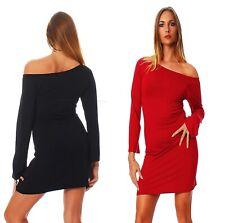 Damen Sexy Kleid Longshirt Tunika Minikleid 34 36 38 40 42 oks