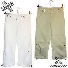 """OXBOW """"abioti"""" femme capri pantalon long short sable blanc uk 6 8 10 12 rrp £ 40"""