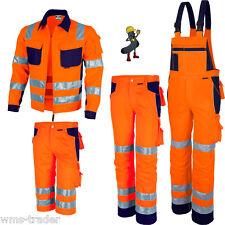 Warnschutzjacke Warnschutzlatzhose Warnschutzbundhose Shorts Warnschutz orange