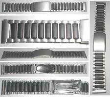 MIX di materiali Orologi Bracciale in gomma/acciaio nastro tipo Sport II sabbiato 18mm, 20mm