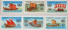 La Libye Libye 1983 1115-20 1090-95 Early voile ships bénédiction bateaux navires MNH