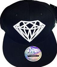 Diamond snapback caps, mens, ladies flat peak baseball hats, hip hop bling drip