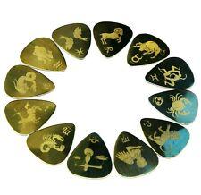 Zodiac Sign Astrology Horoscope Guitar Pick Plectrum Metal Brass UK made