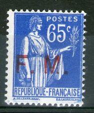 """TIMBRE DE FRANCHISE N° 8 NEUF ** GOMME ORIGINALE - JAMBE DROITE DU """"M"""" PARTIELLE"""