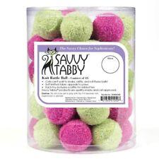 "Knit covered 1.5"" Rattle Ball Cat & Kitten toys - Asst Colors"