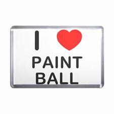 I love Paint Ball Plastic Fridge Magnet - Decoration Fun BadgeBeast