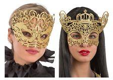 Damen Venezianischen Maske Gold Style Maskenball Verkleidung Karneval Filigran