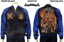 Sukajan Fightting God Asura Japan Satin Embroidery Souvenir Jacket Satori F/S