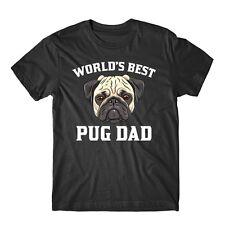 World's Best Pug Dad Dog Owner Graphic T-Shirt