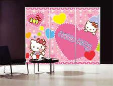 Cute Hello Kitty Cat 3D Full Wall Mural Photo Wallpaper Printing Home Kids Decor