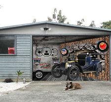 3D Auto d'epoca 56 Garage Porta Stampe Parete Decorazione Murale AJ WALLPAPER IT
