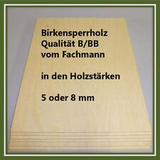 Birkensperrholz IF 20 B/BB in den Stärken 5 oder 8 mm je ein Stück
