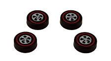 4 Brightvision Redline Wheels – 4 Large Bright Chrome Cap Style Wheels
