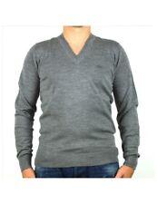 LACOSTE maglia uomo scollo a V grigio lana AH2987