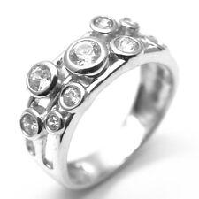 Gota de lluvia Anillo diamond-unique 1/2ct Scatter anillo de plata rodio platino (35251s)