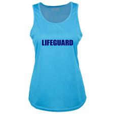 Bondi Beach Ladies Lifeguard Sapphire Blue Racer Back Vest - Fancy Dress Top