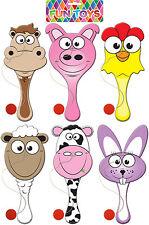 Farm Animals Paddle Bat & Ball Random Selection (T41 076)