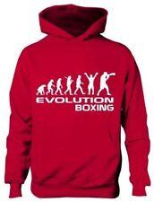 Evolución de Boxeo Boxer Escuela Niños Niñas Niños Regalo Deporte Con Capucha Age 5-13