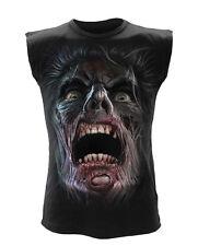 Spiral Night Walkers Sleeveless T Shirt Black gothic streetwear biker wear