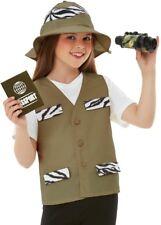 Childs Explorer Fancy Dress Kit Childrens Boys Girls Safari Costume Set Smiffys