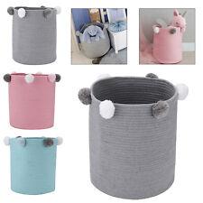 Toy Hamper Pompom Laundry Washing Clothes Storage Basket Bin Foldable Large NEW