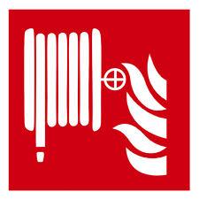 Aufkleber Brandschutz Brandschutzzeichen Löschschlauch bis 30 cm MATT Ablösbar