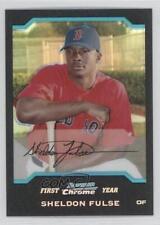 2004 Bowman Chrome Refractor #305 Sheldon Fulse Boston Red Sox Baseball Card