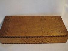 Vintage.. ...Wood...... Burnt....Hosery / Poinsettias.....Box
