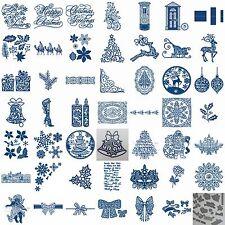 Tattered Lace Christmas Xmas Metal Dies Snowflakes Reindeer Free Mini Die & Gems