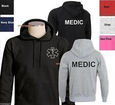 MEDIC Sweatshirt  Emergency Medical Services Hoodie- Two Sides Print SIZES S-3XL