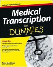 Medical Transcription For Dummies, Martinez, Anne, Good Book