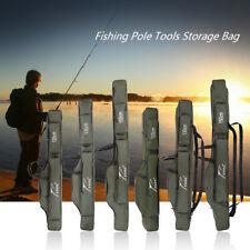 120/130/150cm Portable Folding Fishing Rod Canvas Pole Tools Storage Bag J6M9