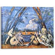 Cezanne bagnanti 10 design quadro stampa tela dipinto con telaio arredo casa