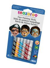 Snazaroo Face Paint Crayon Sticks Boys Pirate Lion Tiger Kit Multi Pack Blue