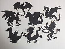 9 ASS BLACK DRAGONS, PHOENIX KRAMPUS  MYTHICAL DIE CUTS  SILHOUETTES