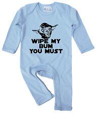 """Yoda ropa de bebé """"limpie mi Bum debe"""" bebé mameluco traje de Star Wars"""