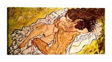 EGON SCHIELE The Embrace Stampa su tela Canvas effetto dipinto